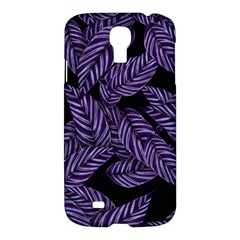 Tropical Leaves Purple Samsung Galaxy S4 I9500/i9505 Hardshell Case