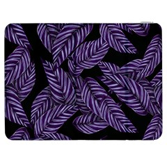 Tropical Leaves Purple Samsung Galaxy Tab 7  P1000 Flip Case