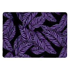 Tropical Leaves Purple Samsung Galaxy Tab 10 1  P7500 Flip Case
