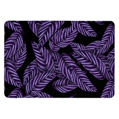 Tropical Leaves Purple Samsung Galaxy Tab 8 9  P7300 Flip Case