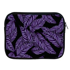 Tropical Leaves Purple Apple Ipad 2/3/4 Zipper Cases
