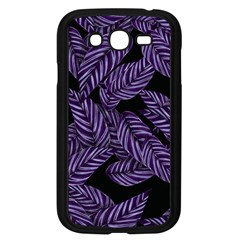 Tropical Leaves Purple Samsung Galaxy Grand Duos I9082 Case (black)