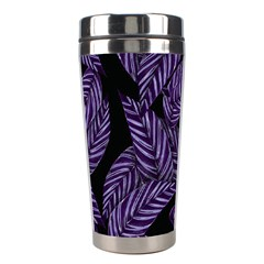 Tropical Leaves Purple Stainless Steel Travel Tumblers