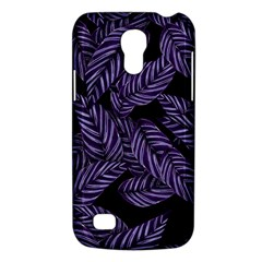 Tropical Leaves Purple Samsung Galaxy S4 Mini (gt I9190) Hardshell Case
