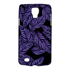 Tropical Leaves Purple Samsung Galaxy S4 Active (i9295) Hardshell Case