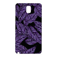 Tropical Leaves Purple Samsung Galaxy Note 3 N9005 Hardshell Back Case