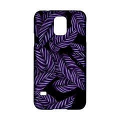 Tropical Leaves Purple Samsung Galaxy S5 Hardshell Case