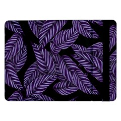 Tropical Leaves Purple Samsung Galaxy Tab Pro 12 2  Flip Case