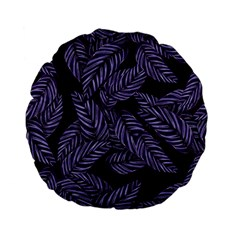 Tropical Leaves Purple Standard 15  Premium Flano Round Cushions