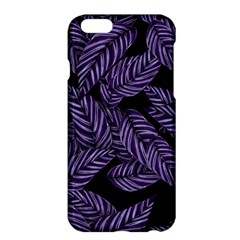 Tropical Leaves Purple Apple Iphone 6 Plus/6s Plus Hardshell Case