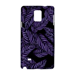 Tropical Leaves Purple Samsung Galaxy Note 4 Hardshell Case