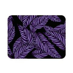 Tropical Leaves Purple Double Sided Flano Blanket (mini)