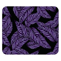 Tropical Leaves Purple Double Sided Flano Blanket (small)