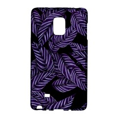 Tropical Leaves Purple Samsung Galaxy Note Edge Hardshell Case