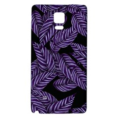 Tropical Leaves Purple Samsung Note 4 Hardshell Back Case