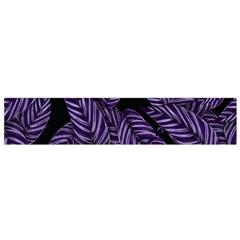 Tropical Leaves Purple Small Flano Scarf