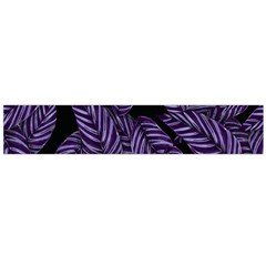 Tropical Leaves Purple Large Flano Scarf