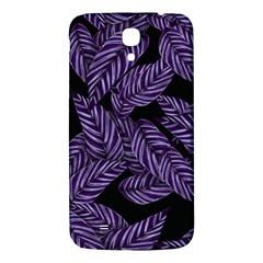 Tropical Leaves Purple Samsung Galaxy Mega I9200 Hardshell Back Case