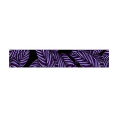 Tropical Leaves Purple Flano Scarf (mini)