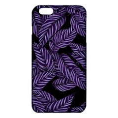 Tropical Leaves Purple Iphone 6 Plus/6s Plus Tpu Case
