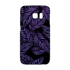 Tropical Leaves Purple Samsung Galaxy S6 Edge Hardshell Case