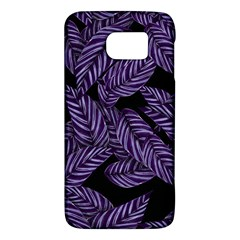Tropical Leaves Purple Samsung Galaxy S6 Hardshell Case