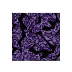 Tropical Leaves Purple Satin Bandana Scarf