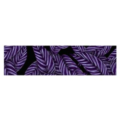 Tropical Leaves Purple Satin Scarf (oblong)