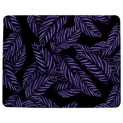 Tropical Leaves Purple Jigsaw Puzzle Photo Stand (rectangular)