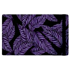 Tropical Leaves Purple Apple Ipad Pro 9 7   Flip Case