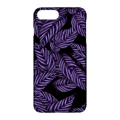 Tropical Leaves Purple Apple Iphone 7 Plus Hardshell Case
