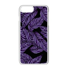 Tropical Leaves Purple Apple Iphone 7 Plus Seamless Case (white)