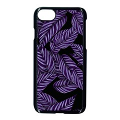 Tropical Leaves Purple Apple Iphone 7 Seamless Case (black)