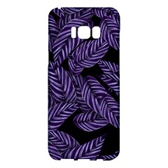 Tropical Leaves Purple Samsung Galaxy S8 Plus Hardshell Case