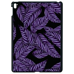 Tropical Leaves Purple Apple Ipad Pro 9 7   Black Seamless Case by vintage2030