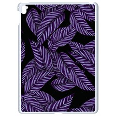 Tropical Leaves Purple Apple Ipad Pro 9 7   White Seamless Case