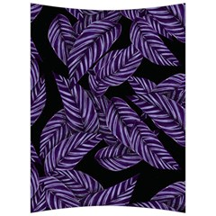 Tropical Leaves Purple Back Support Cushion