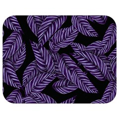 Tropical Leaves Purple Full Print Lunch Bag
