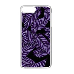 Tropical Leaves Purple Apple Iphone 8 Plus Seamless Case (white)
