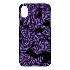 Tropical Leaves Purple Apple Iphone X Hardshell Case