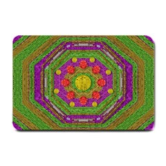 Flowers In Rainbows For Ornate Joy Small Doormat