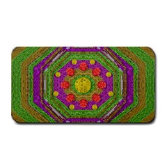 Flowers In Rainbows For Ornate Joy Medium Bar Mats by pepitasart