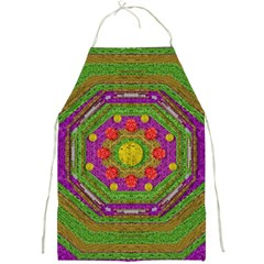 Flowers In Rainbows For Ornate Joy Full Print Aprons