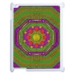 Flowers In Rainbows For Ornate Joy Apple Ipad 2 Case (white)