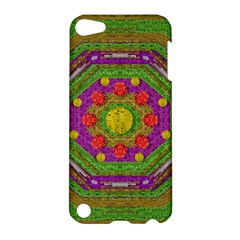 Flowers In Rainbows For Ornate Joy Apple Ipod Touch 5 Hardshell Case by pepitasart