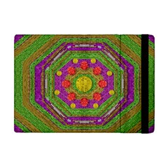 Flowers In Rainbows For Ornate Joy Apple Ipad Mini Flip Case by pepitasart