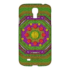 Flowers In Rainbows For Ornate Joy Samsung Galaxy S4 I9500/i9505 Hardshell Case by pepitasart