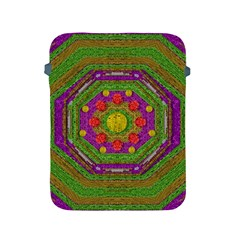 Flowers In Rainbows For Ornate Joy Apple Ipad 2/3/4 Protective Soft Cases by pepitasart