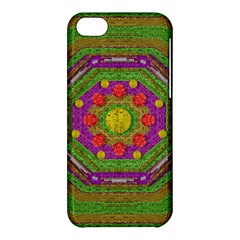 Flowers In Rainbows For Ornate Joy Apple Iphone 5c Hardshell Case by pepitasart
