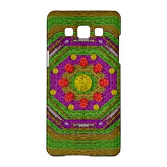Flowers In Rainbows For Ornate Joy Samsung Galaxy A5 Hardshell Case